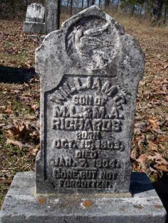 RICHARDS, WILLIAM C - Nevada County, Arkansas | WILLIAM C RICHARDS - Arkansas Gravestone Photos