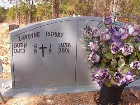 RIDSBY, LAVOYNE - Nevada County, Arkansas | LAVOYNE RIDSBY - Arkansas Gravestone Photos