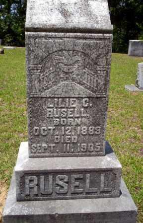 RUSELL, LILIE C. - Nevada County, Arkansas   LILIE C. RUSELL - Arkansas Gravestone Photos