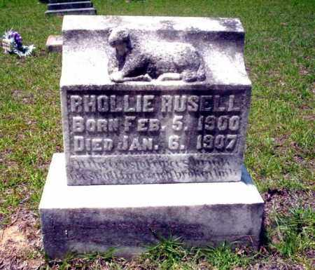 RUSELL, RHOLLIE - Nevada County, Arkansas | RHOLLIE RUSELL - Arkansas Gravestone Photos