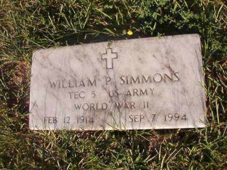 SIMMONS (VETERAN WWII), WILLIAM P - Nevada County, Arkansas | WILLIAM P SIMMONS (VETERAN WWII) - Arkansas Gravestone Photos