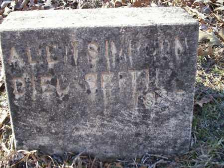 SIMPSON, ALLEN - Nevada County, Arkansas   ALLEN SIMPSON - Arkansas Gravestone Photos