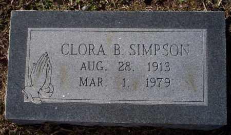 SIMPSON, CLORA B. - Nevada County, Arkansas   CLORA B. SIMPSON - Arkansas Gravestone Photos