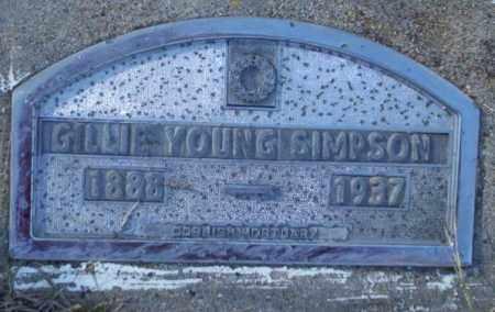 YOUNG SIMPSON, GILLIE - Nevada County, Arkansas | GILLIE YOUNG SIMPSON - Arkansas Gravestone Photos