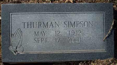 SIMPSON, THURMAN - Nevada County, Arkansas | THURMAN SIMPSON - Arkansas Gravestone Photos