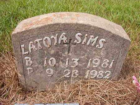 SIMS, LATOYA - Nevada County, Arkansas   LATOYA SIMS - Arkansas Gravestone Photos