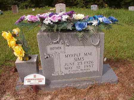 SIMS, MYRPLE MAE - Nevada County, Arkansas | MYRPLE MAE SIMS - Arkansas Gravestone Photos