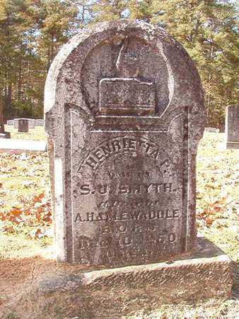 WADDLE SMYTH, HENRIETTA - Nevada County, Arkansas | HENRIETTA WADDLE SMYTH - Arkansas Gravestone Photos