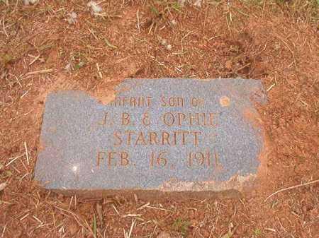 STARRITT, INFANT SON - Nevada County, Arkansas   INFANT SON STARRITT - Arkansas Gravestone Photos