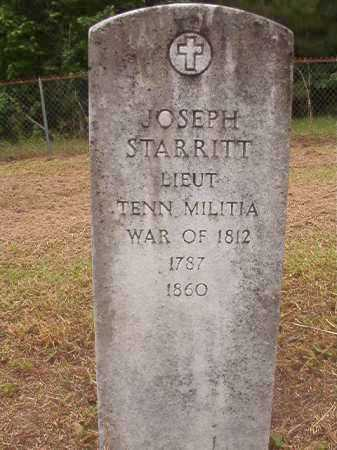 STARRITT (VETERAN 1812), JOSEPH - Nevada County, Arkansas | JOSEPH STARRITT (VETERAN 1812) - Arkansas Gravestone Photos