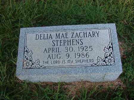 ZACHARY STEPHENS, DELIA MAE - Nevada County, Arkansas | DELIA MAE ZACHARY STEPHENS - Arkansas Gravestone Photos