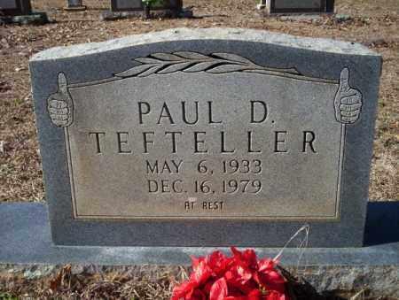 TEFTELLER, PAUL D. - Nevada County, Arkansas | PAUL D. TEFTELLER - Arkansas Gravestone Photos