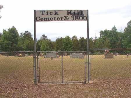 *TICK HILL, CEMETERY - Nevada County, Arkansas   CEMETERY *TICK HILL - Arkansas Gravestone Photos