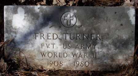 TURNER  (VETERAN WWII), FRED - Nevada County, Arkansas   FRED TURNER  (VETERAN WWII) - Arkansas Gravestone Photos