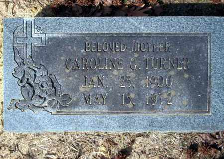 TURNER, CAROLINE G - Nevada County, Arkansas | CAROLINE G TURNER - Arkansas Gravestone Photos