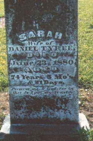 TYREE, SARAH - Nevada County, Arkansas | SARAH TYREE - Arkansas Gravestone Photos