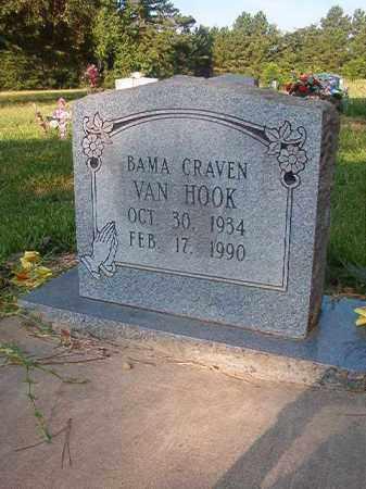 CRAVEN VAN HOOK, BAMA - Nevada County, Arkansas | BAMA CRAVEN VAN HOOK - Arkansas Gravestone Photos