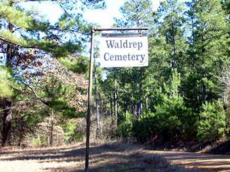 *WALDREP CEMETERY SIGN,  - Nevada County, Arkansas |  *WALDREP CEMETERY SIGN - Arkansas Gravestone Photos