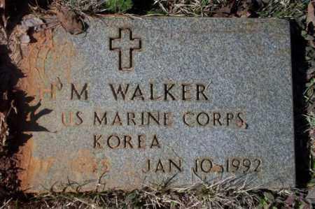 WALKER  (VETERAN KOR), H M - Nevada County, Arkansas | H M WALKER  (VETERAN KOR) - Arkansas Gravestone Photos