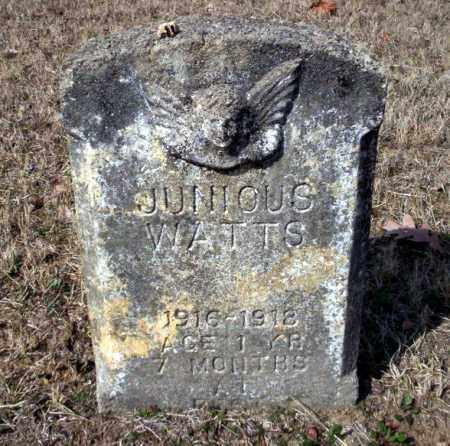 WATTS, JUNIOUS - Nevada County, Arkansas | JUNIOUS WATTS - Arkansas Gravestone Photos
