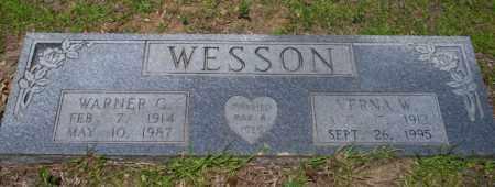 WESSON, WARNER G - Nevada County, Arkansas | WARNER G WESSON - Arkansas Gravestone Photos