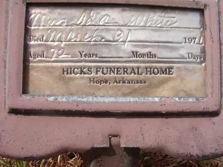 WHITE, MRS. IDA - Nevada County, Arkansas   MRS. IDA WHITE - Arkansas Gravestone Photos