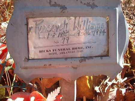 WILLIAMS, ROOSEVELT - Nevada County, Arkansas | ROOSEVELT WILLIAMS - Arkansas Gravestone Photos