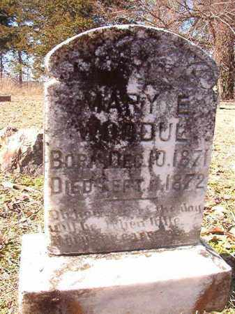 WOODUL, MARY E - Nevada County, Arkansas | MARY E WOODUL - Arkansas Gravestone Photos