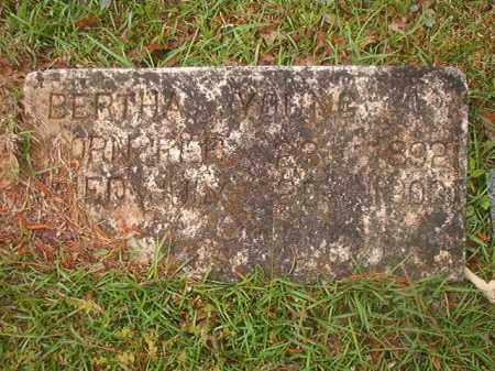 YOUNG, BERTHA - Nevada County, Arkansas | BERTHA YOUNG - Arkansas Gravestone Photos
