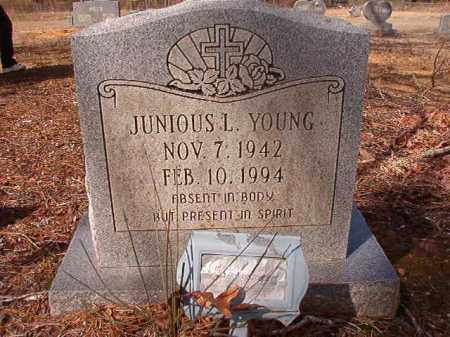 YOUNG, JUNIOUS L - Nevada County, Arkansas | JUNIOUS L YOUNG - Arkansas Gravestone Photos