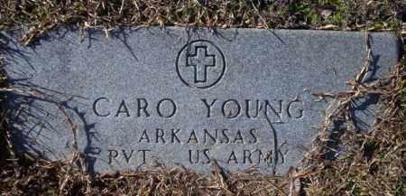 YOUNG (VETERAN), CARO - Nevada County, Arkansas   CARO YOUNG (VETERAN) - Arkansas Gravestone Photos