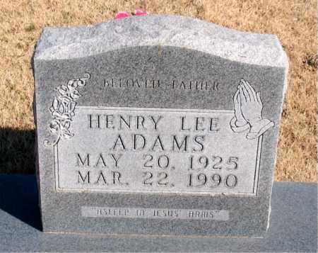 ADAMS, HENRY LEE - Newton County, Arkansas   HENRY LEE ADAMS - Arkansas Gravestone Photos