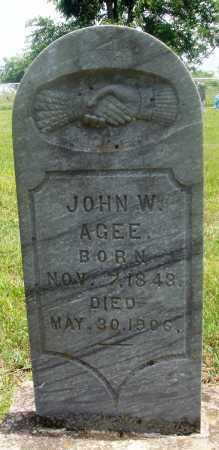 AGEE, JOHN W - Newton County, Arkansas | JOHN W AGEE - Arkansas Gravestone Photos