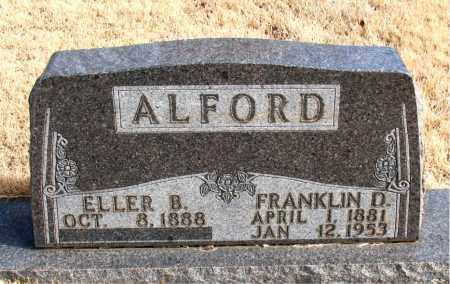 ALFORD, FRANKLIN D. - Newton County, Arkansas | FRANKLIN D. ALFORD - Arkansas Gravestone Photos