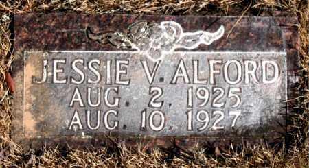 ALFORD, JESSIE V. - Newton County, Arkansas   JESSIE V. ALFORD - Arkansas Gravestone Photos