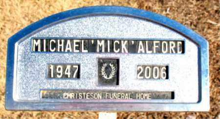 "ALFORD, MICHAEL ""MICK"" - Newton County, Arkansas | MICHAEL ""MICK"" ALFORD - Arkansas Gravestone Photos"