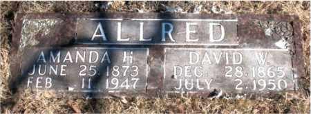 ALLRED, DAVID D. - Newton County, Arkansas   DAVID D. ALLRED - Arkansas Gravestone Photos