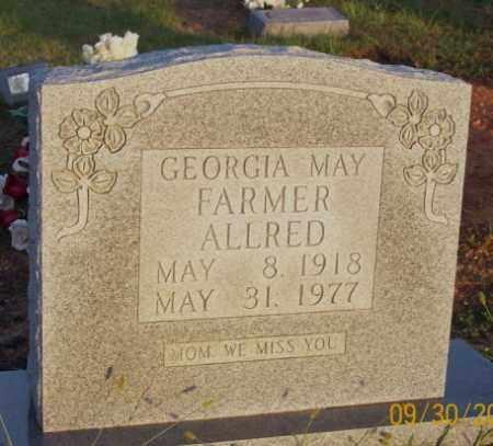FARMER ALLRED, GEORGIA MAY - Newton County, Arkansas   GEORGIA MAY FARMER ALLRED - Arkansas Gravestone Photos