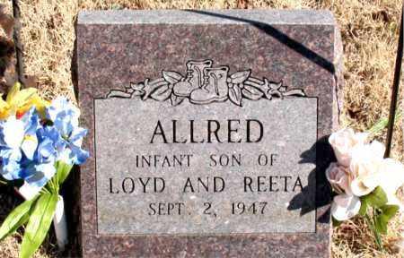 ALLRED, INFANT SON - Newton County, Arkansas   INFANT SON ALLRED - Arkansas Gravestone Photos