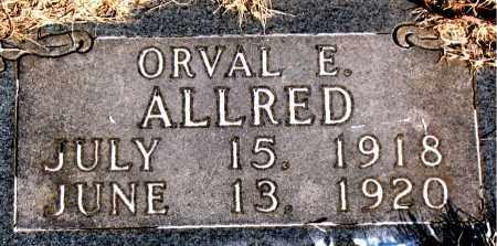 ALLRED, ORVAL E. - Newton County, Arkansas | ORVAL E. ALLRED - Arkansas Gravestone Photos