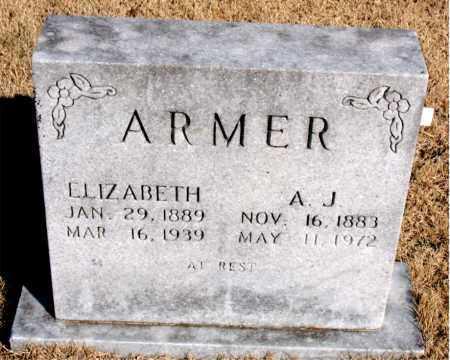 ARMER, ELIZABETH - Newton County, Arkansas   ELIZABETH ARMER - Arkansas Gravestone Photos