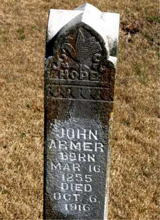 ARMER, JOHN - Newton County, Arkansas   JOHN ARMER - Arkansas Gravestone Photos