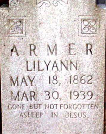 ARMER, LILYANN - Newton County, Arkansas   LILYANN ARMER - Arkansas Gravestone Photos