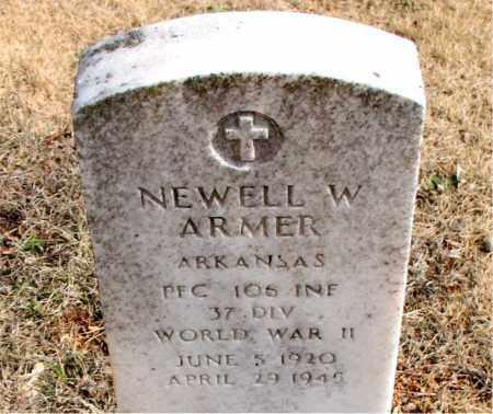 ARMER  (VETERAN WWII), NEWELL W - Newton County, Arkansas | NEWELL W ARMER  (VETERAN WWII) - Arkansas Gravestone Photos