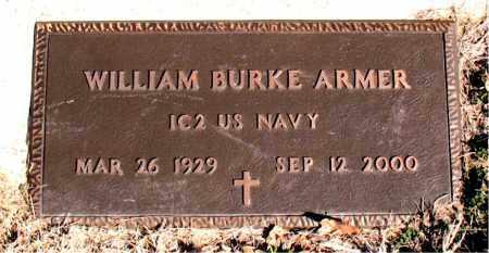 ARMER  (VETERAN), WILLIAM BURKE - Newton County, Arkansas | WILLIAM BURKE ARMER  (VETERAN) - Arkansas Gravestone Photos