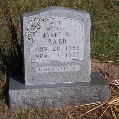 BABB, JANET K. - Newton County, Arkansas   JANET K. BABB - Arkansas Gravestone Photos