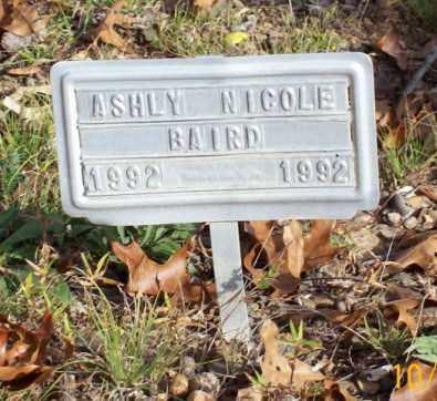 BAIRD, ASHLY NICOLE - Newton County, Arkansas   ASHLY NICOLE BAIRD - Arkansas Gravestone Photos