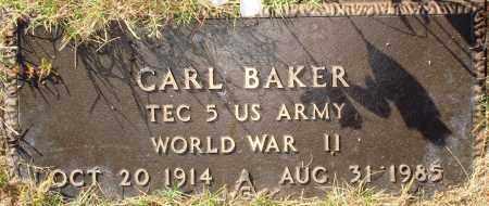 BAKER  (VETERAN WWII), CARL - Newton County, Arkansas | CARL BAKER  (VETERAN WWII) - Arkansas Gravestone Photos
