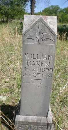 BAKER, WILLIAM - Newton County, Arkansas   WILLIAM BAKER - Arkansas Gravestone Photos