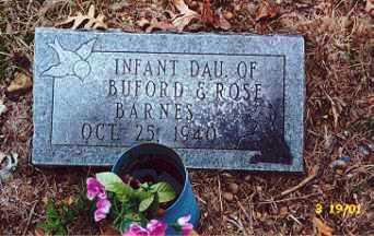 BARNES, INFANT DAUGHTER - Newton County, Arkansas   INFANT DAUGHTER BARNES - Arkansas Gravestone Photos
